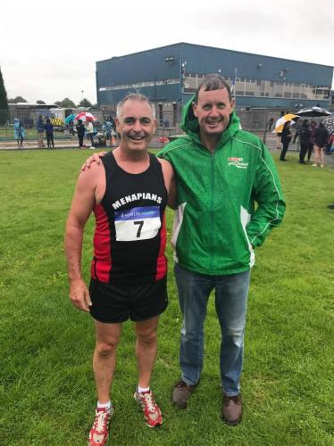 Jimmy MacDonald with Menapians AC team manager Conall Gaffney