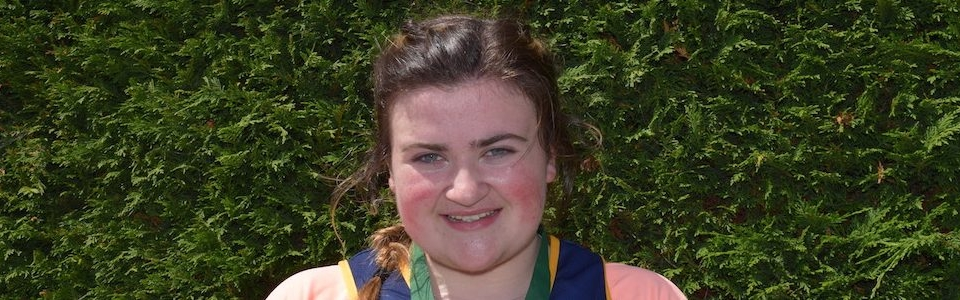 Amy Forde, St Killian's 2nd in Leinster U18 Hammer and 3rd in Discus