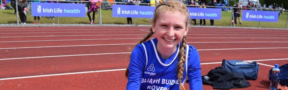 Orlaith Deegan, SBR AC who won a Silver medal in the U13 High Jump at the Leinster Championships in Tullamore